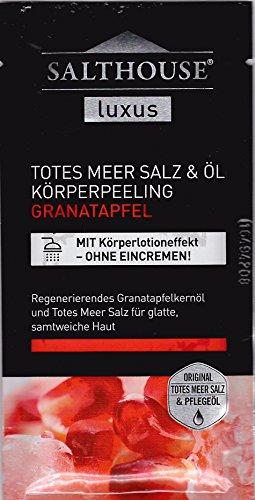 Salthouse Luxus Totes Meer Salz & Öl Körperpeeling Granatapfel 35 ml