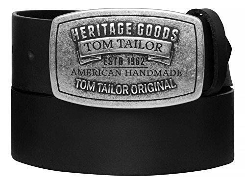 tom-tailor-cinturon-de-cuero-correas-de-los-hombres-negro-4377-lange105-cmfarbeschwarz