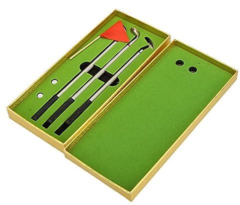 SaySure - Golfers Replica Aluminum Alloy Golf Club Ball Ballpoint Golf Pen Set