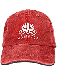 deyhfef Namaste Lotus Flower Unisex Adjustable Cotton Denim Hat Multicolor96 74af25c4086