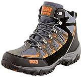 GUGGEN Mountain Bergschuhe Bergstiefel Wanderschuhe Wanderstiefel Mountain Boots Trekkingschuhe mit Echtem Leder, Farbe Grau-Orange, EU 44
