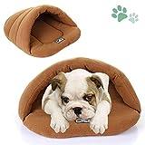 SeaNpem Pet Bett Matte Cuddle Tasche Höhle Verdeckt mit Kapuze Hund Kissen Bett
