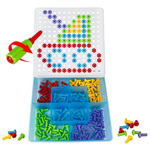 DIY Puzzle Building Blocks Puzzle Tray the Board Creative Toys the Box for Children from 3 Years + (152PCS)