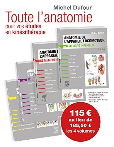 Anatomie De L'appareil Locomoteur. Anatomie Des Organes Et Des Viscères. Pack Des 4 Tomes