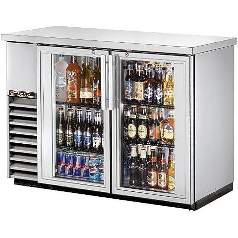 True tbb-24–48g-s-ld doble puerta trasera Bar enfriador de botellas, acero inoxidable