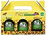 La Celda Real - 1,5 kg Miele naturale - Origine Spagna -100% Puro - Vaso di vetro - Pack 3 sapori: Miele di Rosmarino + Miele di Bosco + Miele fiori d'Arancio