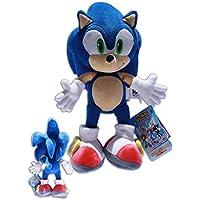 Sonic the Hedgehog Muñeco del videojuego SEGA, peluche de 34cm, color azul