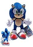 Sonic the Hedgehog 34cm Peluche Echidna Sonic X Bleu Hérisson Poupée Jeux Vidéo Sega