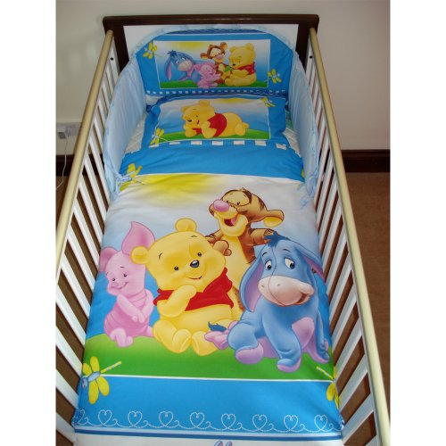 Disney Winnie the Pooh Happy Feelings Bedding Set for Cot or Cotbed (Cotbed - 140 x 70cm)