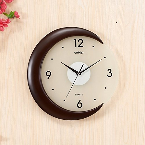 GuoEY Kreative Uhren Wanduhr Seelsorge Art déco-Lounge Moderne Holz Garten Service Service Kreative (Farbe Schwarz) -