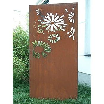 Amazon De Metallmichl Edelrost Garten Paravent Graser 200 X 100 Cm