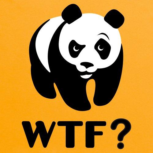 WTF Panda T-Shirt, Herren Gelb
