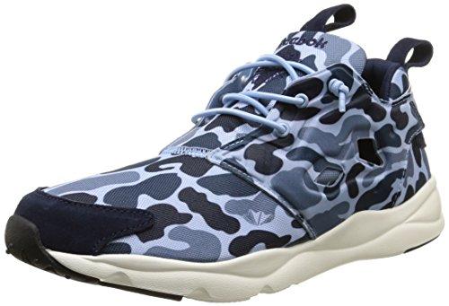 Reebok Furylite Camo, Scarpe sportive, Uomo, Multicolore (Blue Peack/Slate/Denim), 40.5