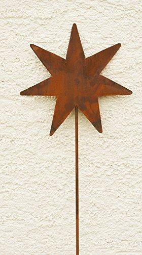 Dekostern Rost Eisen Gartendeko Stecker Stab Sterne 120cm