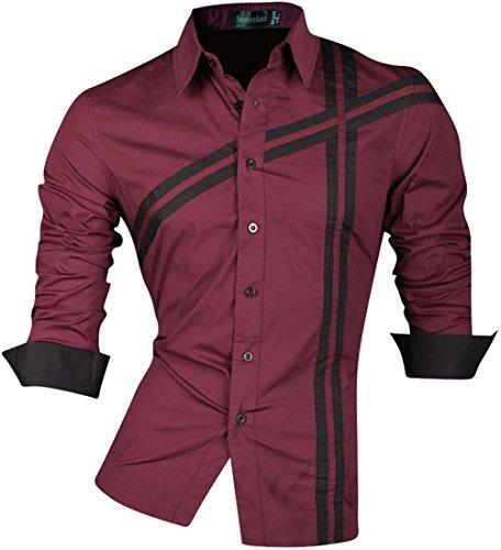 Jeansian Manga Larga De Los Hombres De Moda Slim Fit Camisas Men Fashion Shirts 8397