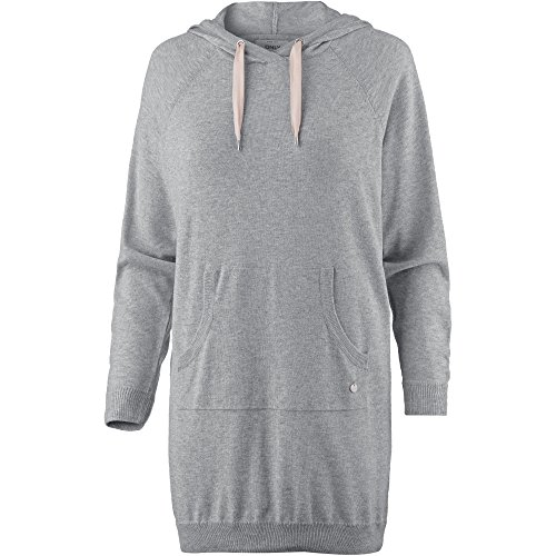 Only Damen Strickkleid Freizeitkleid Sweatkleid Longtop Hoodie (S, Light Grey Melange)