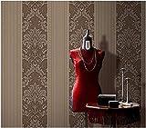 Pmhhc Europäische Dreidimensionale Braune Geprägte 3D-Vliestapete Schlafzimmer Wohnzimmer Tv Hintergrund Tapete