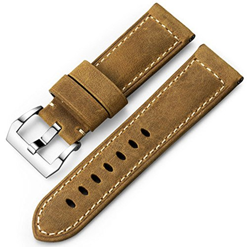 826d80b829e iStrap Watch Strap 22mm 24mm 26mm Leather Vintage Military Watch Strap  Watch Band Relacement Band for