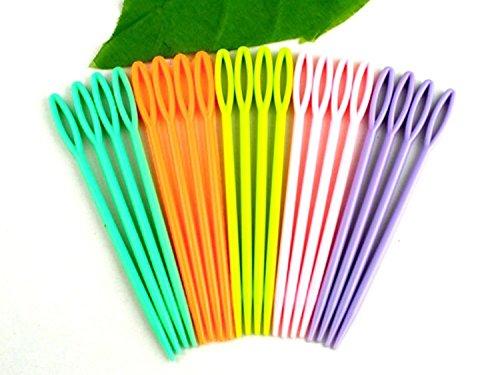 40Stück-Kinder Kunststoff 7cm Nadeln. Nähen, für Binca Stoff und Tapisserie