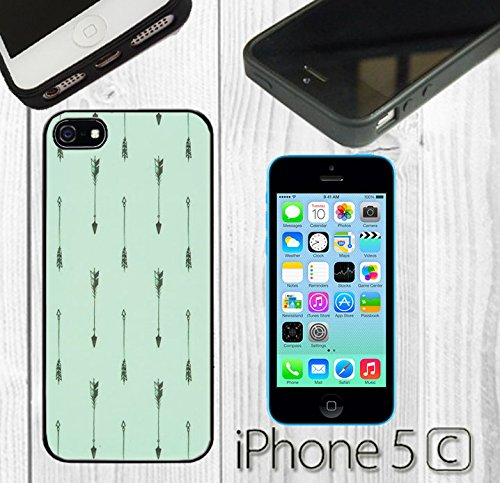 Mint Arrow Pattern Custom made Case/Cover/Skin FOR iPhone 5C Color -Black- Rubber Case by supermalls