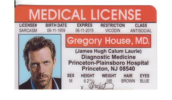 Dr Novelty Signs4fun Fans Identification Tv Amazon By co d Hugh Car Motorbike Laurie amp; Gregory Drivers uk House For Md Show The License Fake I