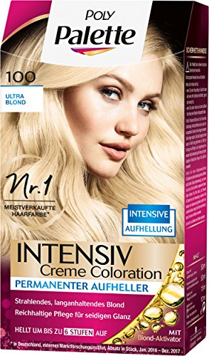 Poly Palette Intensiv Creme Coloration, 100 Ultra Blond Stufe 3, 3er Pack (3 x 128 ml)
