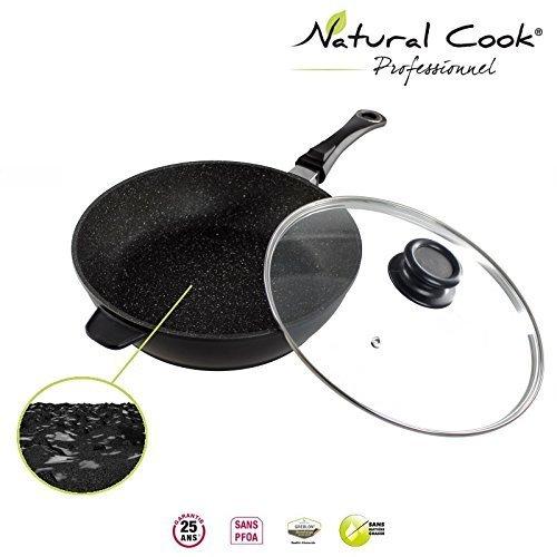 Sauteuse en pierre granité et céramique - tous feux dont induction - Natural Cook Professionnel (24 cm)