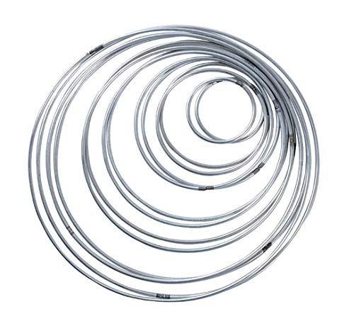 Shuny 14 Piezas Anillos de Metal Artesanio Aros de Metal,Anillo de Metal,para Atrapasueños, 7 Tamaños (Plateado)