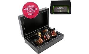 Hallingers 5er Tee-Geschenk-Set Roiboos-Tee & Früchtetee (55g) - Frisches Lebensgefühl (MiniDeluxe-Box) - zu Liebe & Hochzeit