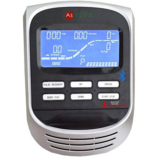 AsVIVA C22 Crosstrainer Ergometer Cardio mit Generator System (inkl. Multifunktionscomputer mit 12 Automatikprogrammen, Pulsmessung und Tablet und Smartphone Halterung , günstig vom Testsieger) - 3