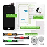 Prezzo GIGA Fixxoo Schermo singolo di Ricambio per iPhone 7 Plus Apple, Display LCD Retina ad Alta Risoluzione, Touch Screen in Vetro con Fotocamera, Altoparlante & Sensore Prossimità; Guida Video Online - Nero