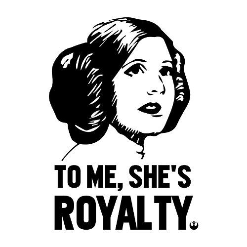 Princess Leia To Me Shes Royalty Star Wars Men's Vest White