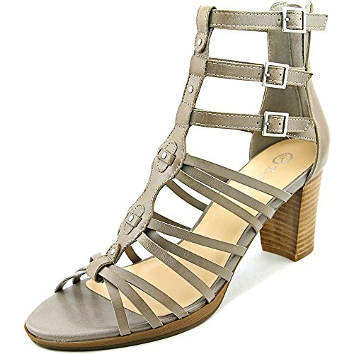 Bella Vita Layne étroit Cuir Sandales Light Grey