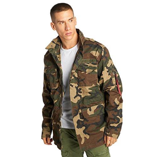 Preisvergleich Produktbild Alpha Industries Herren Jacken / Übergangsjacke Huntington camouflage 3XL