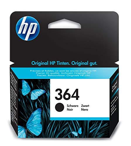 HP 364 CB316EE Cartuccia Originale per Stampanti a Getto di Inchiostro Photosmart B210c, B110c, B110e, B8550, 7520, Deskjet 3520, 3522, 3524, Nero