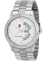 SWISS TREND Analogue White Dial Men's Watch -ST-81
