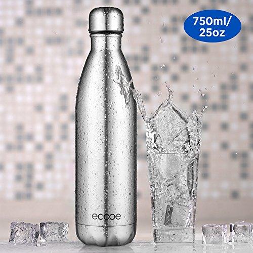 Ecooe Thermosflaschen 750 ml doppelwandig Trinkflasche edelstahl Wasserflasche Vakuum Isolierflasche