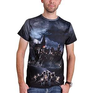 861f507c0 Camiseta de Hogwarts Hombre – La magia comienza desde el azul negro