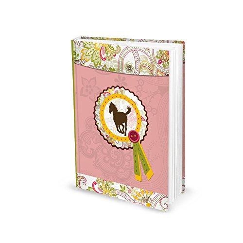 Kleines PFERDE Notizbuch Tagebuch Mädchen Einschreib-Buch Ideenbuch DIN A5 pink rosa HARDCOVER Pferdebuch Malbuch Zeichenbuch Skizzenbuch Geschenk für Reiter u. Pferdeliebhaber