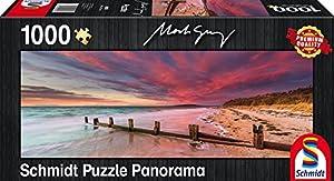 Schmidt Spiele Puzzle Revestimiento P9K-Mark Gray mccrae Beach, Morning Ton Peninsula, Victoria, Australia, panorámica Puzzle, 1000Piezas