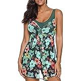 Theshy_Bikini Lady Print Tankini Swimdress Swimsuit Beachwear Padded Swimwear Plus Size Bikini