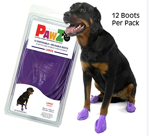 Large Pawz Durable All Weather Dog Boots (12 boots) 4