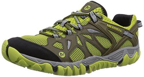 Merrell All Out Blaze Aero Sport, Chaussures de randonnée basses homme Vert (Beech/Green Oasis)