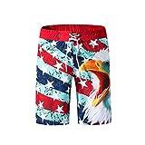 TEBAISE Herren Badeshorts Beachshorts Boardshorts Badehose Schwimmhose Männer mit Palmen Bermuda Shorts für Männer Festival Karneval Fasching