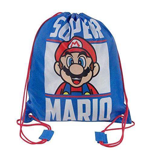 Unbekannt Super Mario Offizielle Kinder Schwimm- Tasche (Einheitsgröße) (Blau)