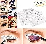 Komener Fashion Color 96 Paare Eyeliner Template Stickers Smokey Shaper Schatten Zeichnung Leitfaden Vorlage Schönheit Schnell Make-up-Tools