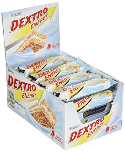 Dextro Energy Riegel Joghurt | 24 x 35 g Müsliriegel aus Getreide | Alternative zum Schokoriegel | Kohlenhydrat Riegel Hafer | Ideal für Ausdauersport