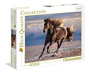 Clementoni 39420 Puzzle Contour Puzzle 1000 Pieza(s) - Rompecabezas (Contour Puzzle, Animales, Adultos, Free Horse, Cabello, 14 año(s))