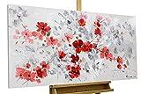 KunstLoft® Acryl Gemälde 'Prosperity' 120x60cm | original handgemalte Leinwand Bilder XXL | Abstrakt Rot Punkte | Wandbild Acryl bild moderne Kunst einteilig mit Rahmen