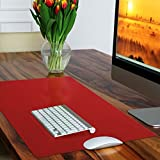Sous-main casa pura® rouge sans plastifiants / PVC | parfait pour les enfants ou le bureau | taille 50x65cm